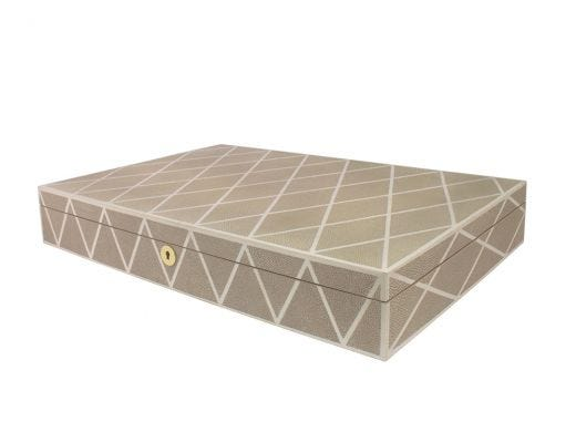 Shagreen Diamonds Box Beige