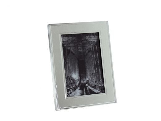 """Silver Plated Line Frame 5x7"""""""