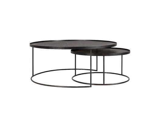 Round Tray Tables Set, XL