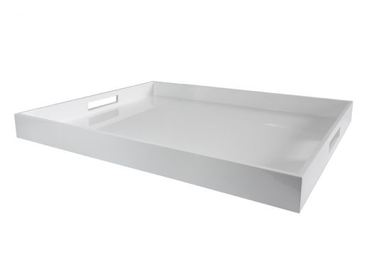 Rectangular Lacquer Tray White, Large