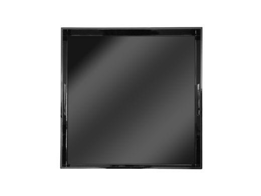 Square Lacquer Tray Black, Medium