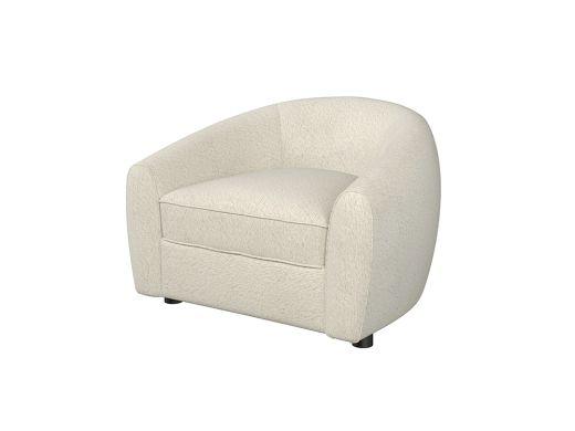 Geneva Arm Chair, Boucle Cream