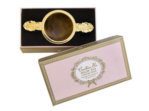 Gold Tea Strainer