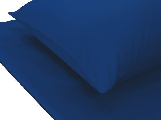 Plain Blue King Fitted Sheet