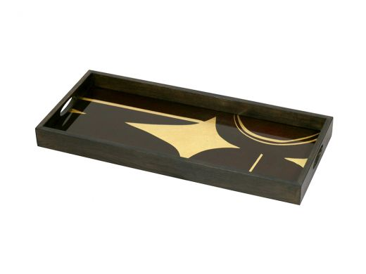 Curves Glass Rectangle Tray