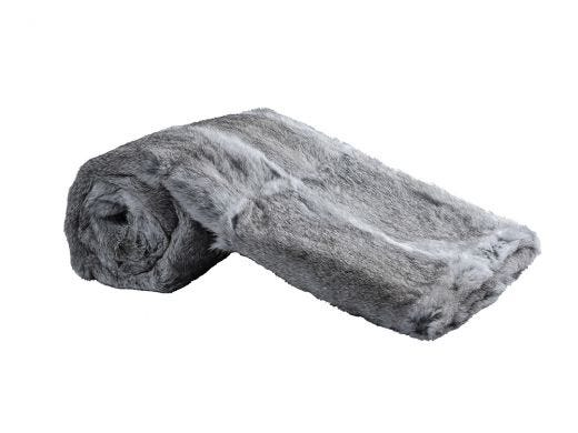 Grey Fur Throw 130x160