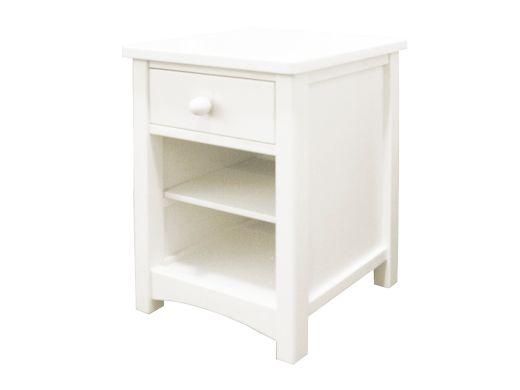 Noah Bedside Table - White