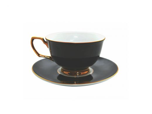 Ebony Cup and Saucer