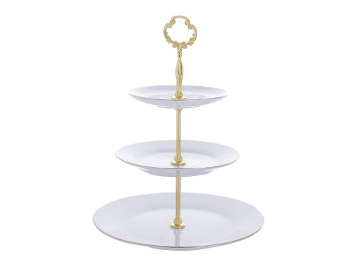 Gold and White Cake Stand