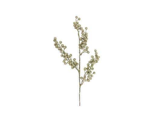 Gold Glitter Berry Branch 30cm