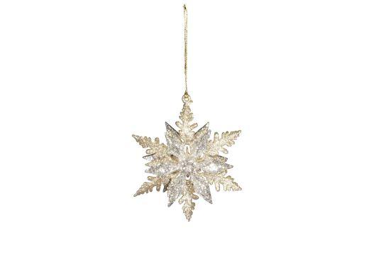 Gold & Silver Snowflake