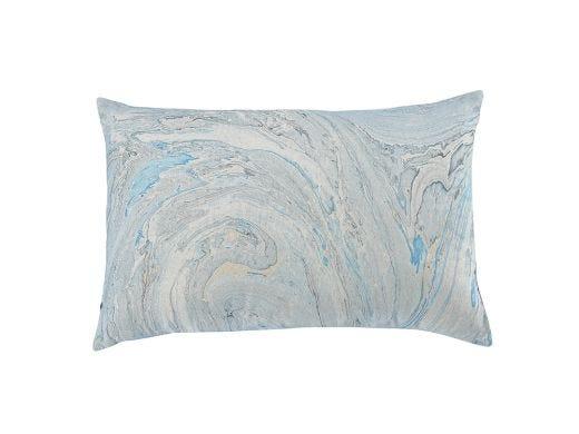 Marbled Cushion Cover - Blue
