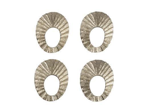 Sheild Napkin Rings S/4