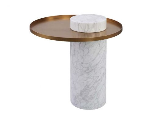 Circa Marble Side Table, White