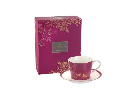 Tea Cup & Saucer - Pink