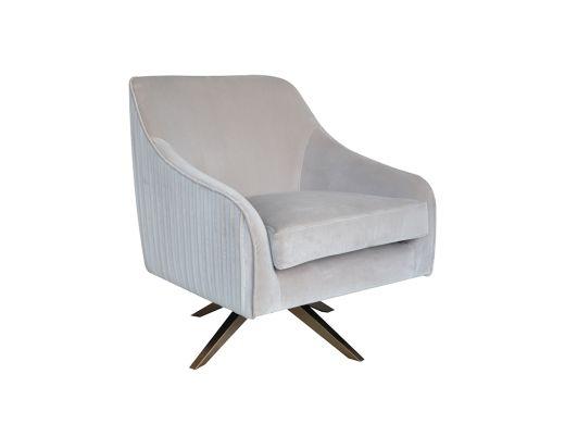 Adele Velvet Swivel Chair