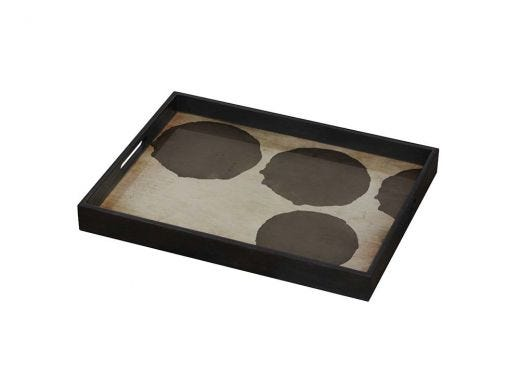 Silver Dots Glass Tray - S