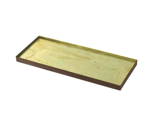 Gold Leaf Glass Tray, Large