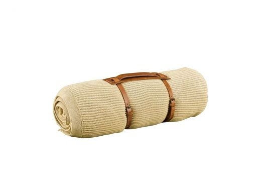Tone Knitted Throw - Beige
