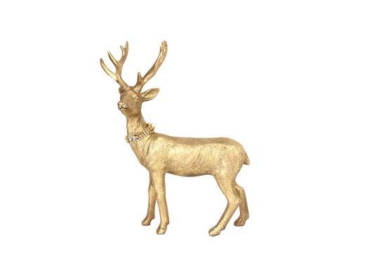 Gold Reindeer Ornament