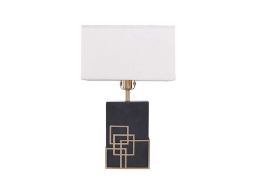 Rocco Table Lamp Black Marble