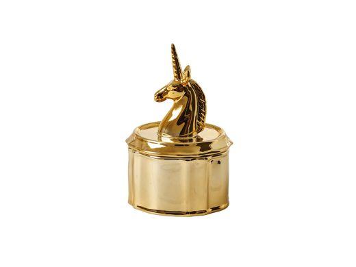 Unicorn Jewelry Box, Gold