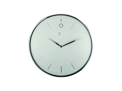 Glamour Wall Clock, Silver