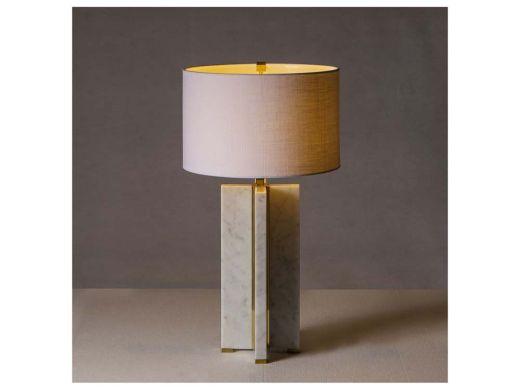 Marble Table Lamp - Cross