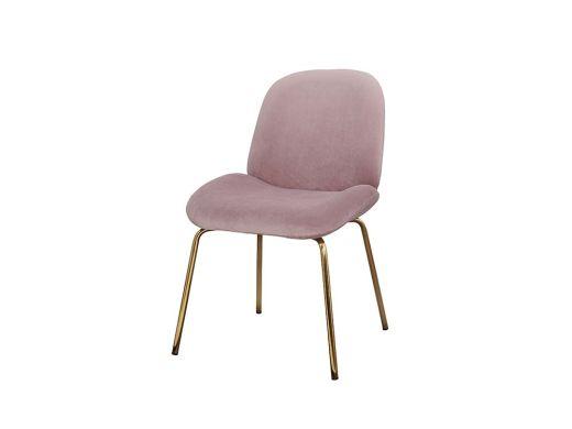 Lewis Chair, Dusty Pink Velvet