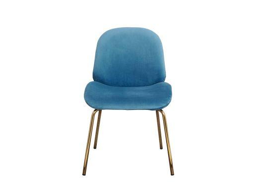 Lewis Chair,Teal Velvet