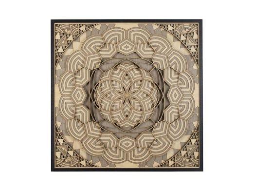 Kaleidoscope Wood Carving