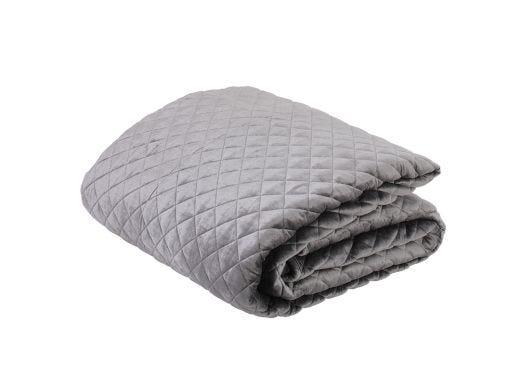 Serica Velvet Quilt, Grey