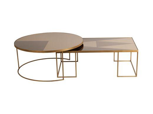 Geo Bronze Coffee Table Round