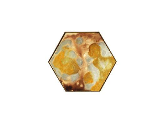 Yellow Organic Hexagon Tray S