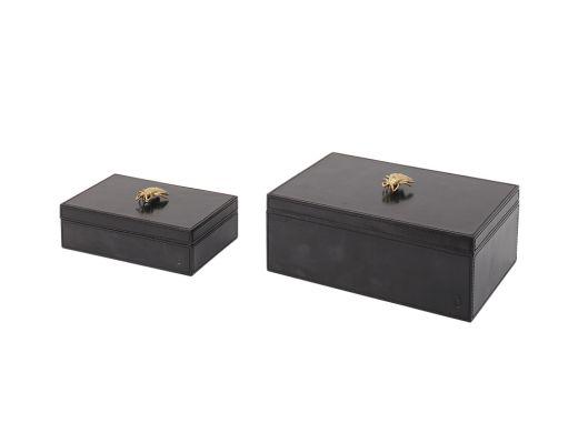 Glen Leather Box Bee - Large