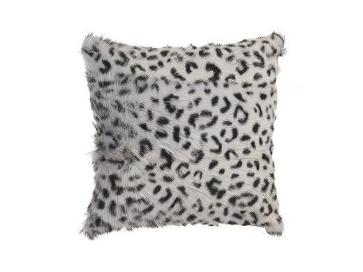 Leopard Fur Cushion Cover-Grey
