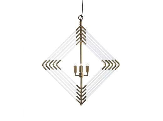 Spiral Acrylic Diamond-5-Brass
