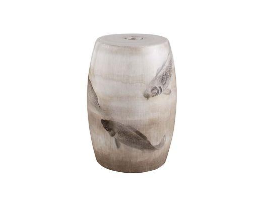 Koi Fish Ceramic Stool
