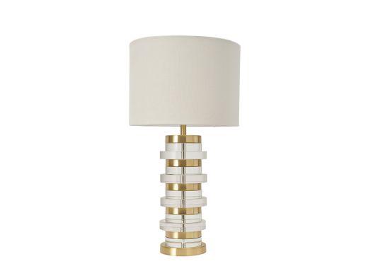 Deepa Crystal Table Lamp -Gold