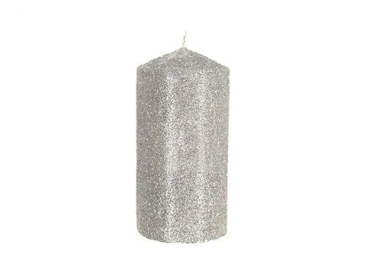 Glitter Candle, Silver