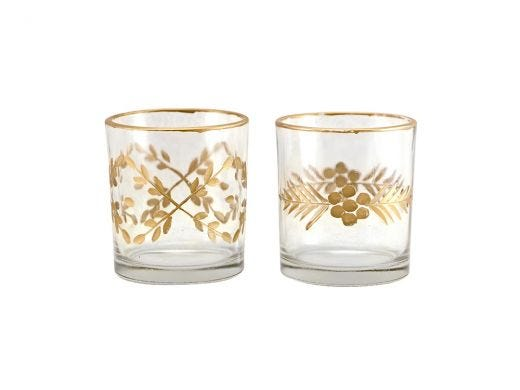 Gold Etched Tealight Small