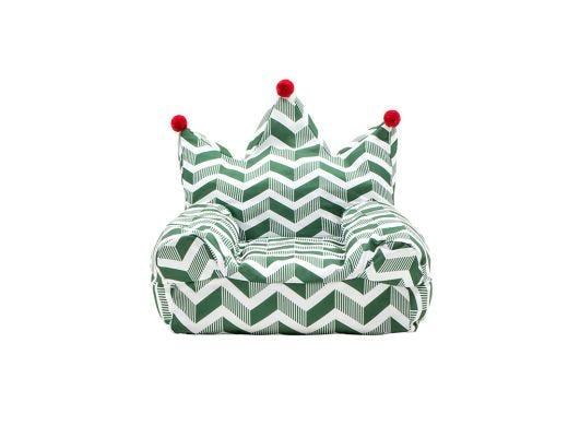 Crown Bean Bag, Green