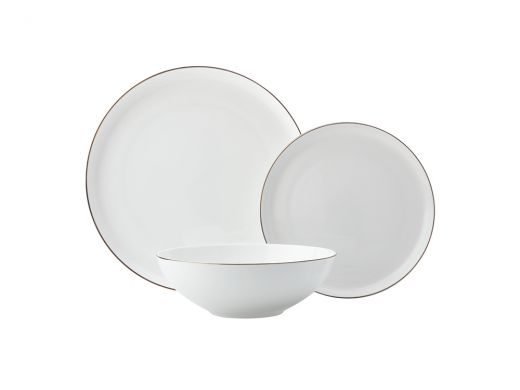 Cashmere Luxe High Rim Dinner Set, 12pcs
