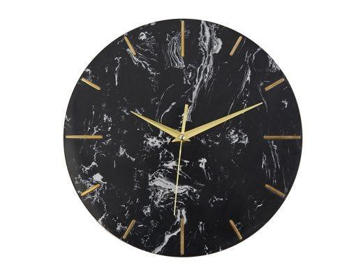Marble Clock - Black