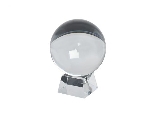 Clear Crystal Ball with Base