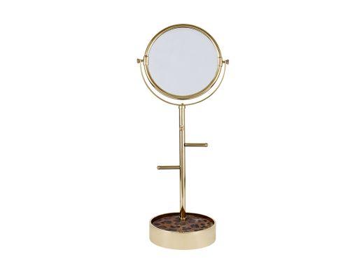 Leopard Table Top Mirror