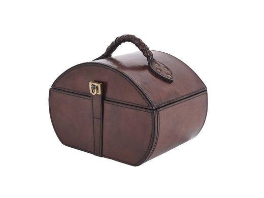 Leather Premium Drawer Box, Brown