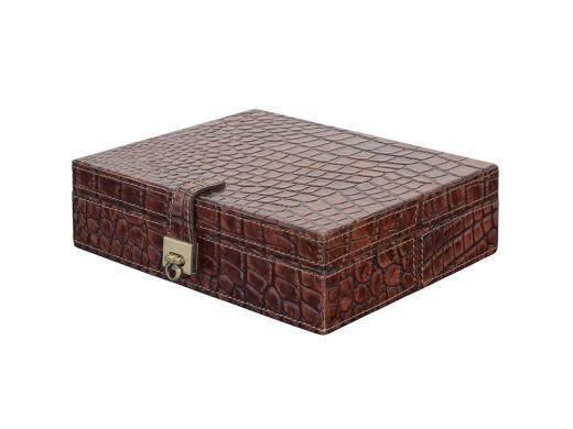 Croc Leather Jewellery Box