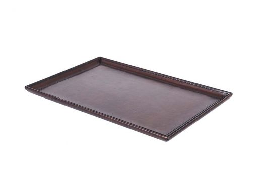 Brown Leather Tray Large