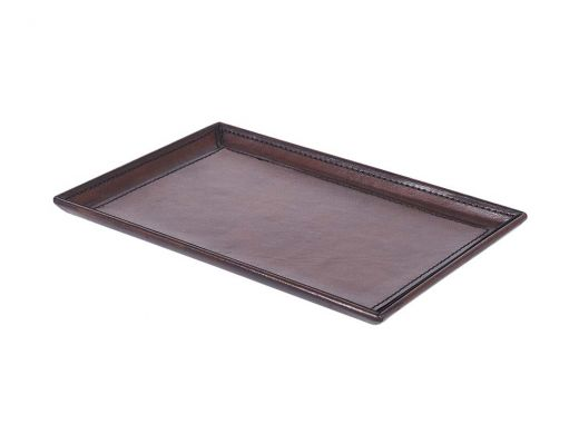 Brown Leather Tray Small